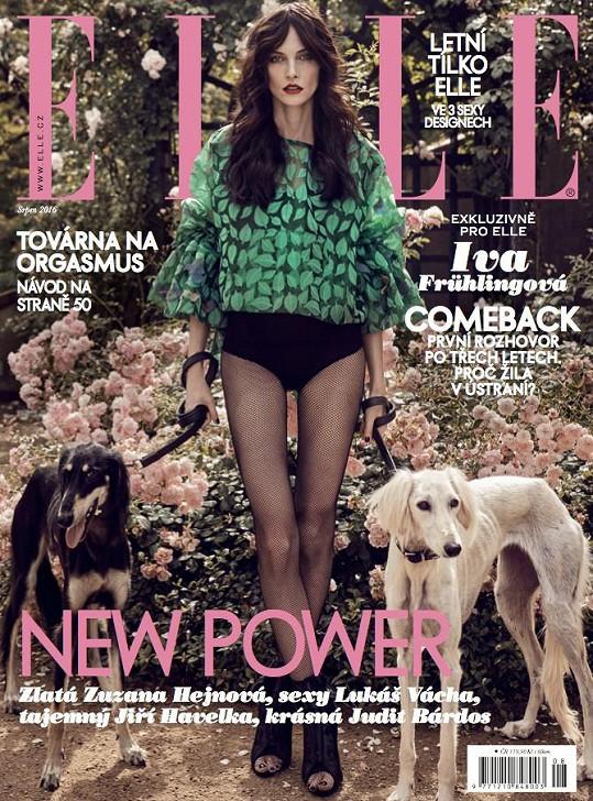 Frühlingová na obálce aktuálního čísla módního magazínu Elle.