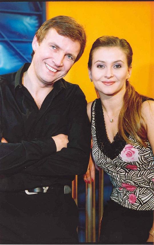 Dana Morávková a Zdeněk Mahdal v době, kdy spolu uváděli Prima jízdu.