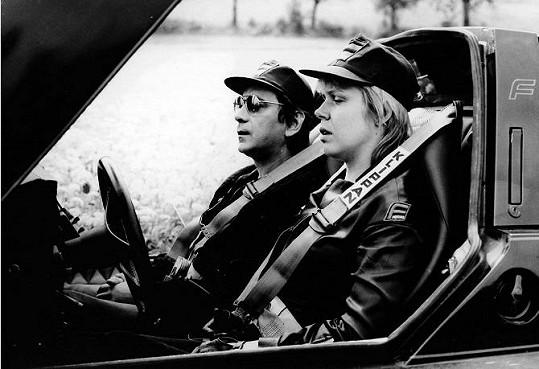Kolega Petr Čepek s herečkou Dagmar Havlovou v hororu Upír z Feratu, který Herz natočil v roce 1981.