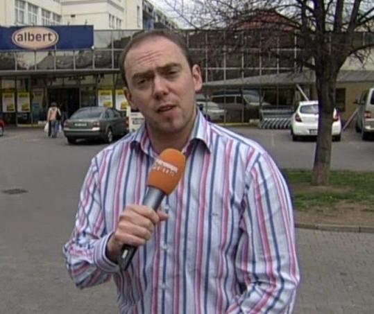 Hruška ve své poslední reportáži odhalil shnilou zeleninu v supermarketu.