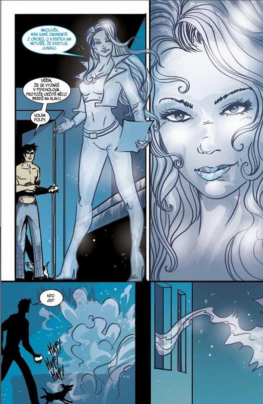 V komiksu Dechberoucí zázrak se proměnila v bílou paní.