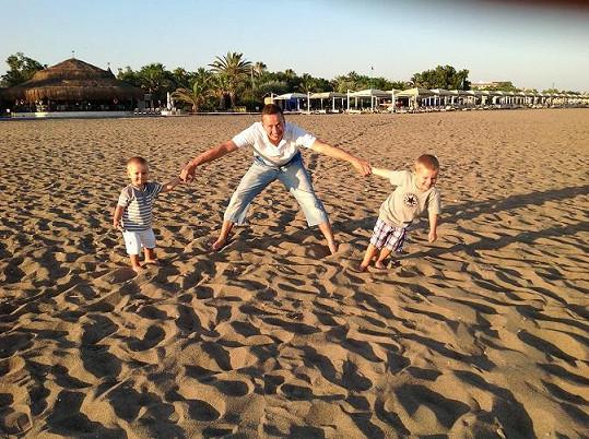 S kluky na turecké pláži.