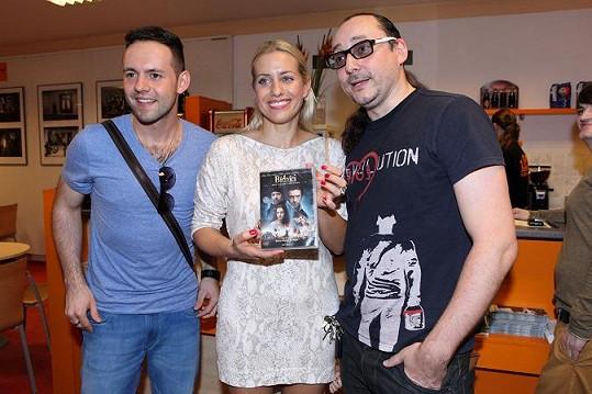 Tereza Mátlová, Marián Vojtko a Michael Foret křtili DVD Bídníci.