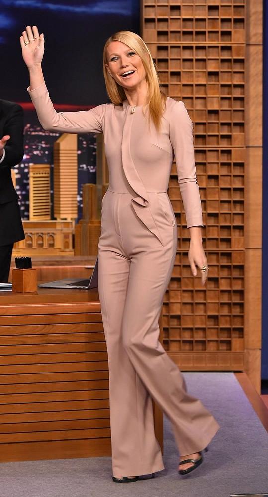 Gwyneth Paltrow byla hostem středečního pořadu The Tonight Show s Jimmym Fallonem.