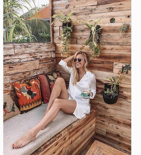 Renata si po douhé zimě naordinovala odpočinek na Bali.