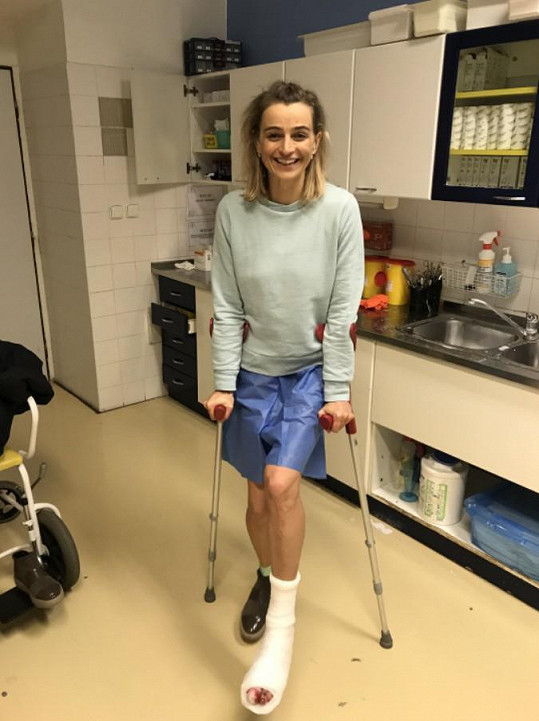 Ivana Jirešová má na noze na pár týdnů sádru.