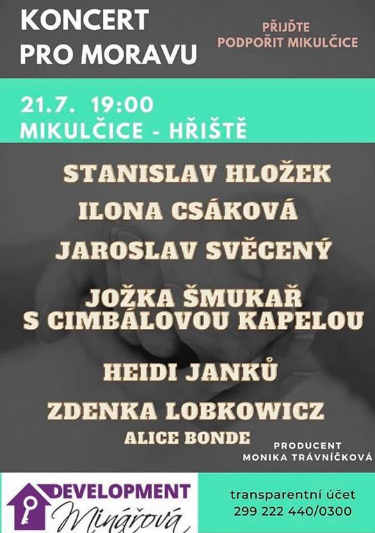 Ilona Csáková vystoupí aspoň v Mikulčicích. Koncert produkuje Monika Trávníčková a ta její kandidaturu neřeší.