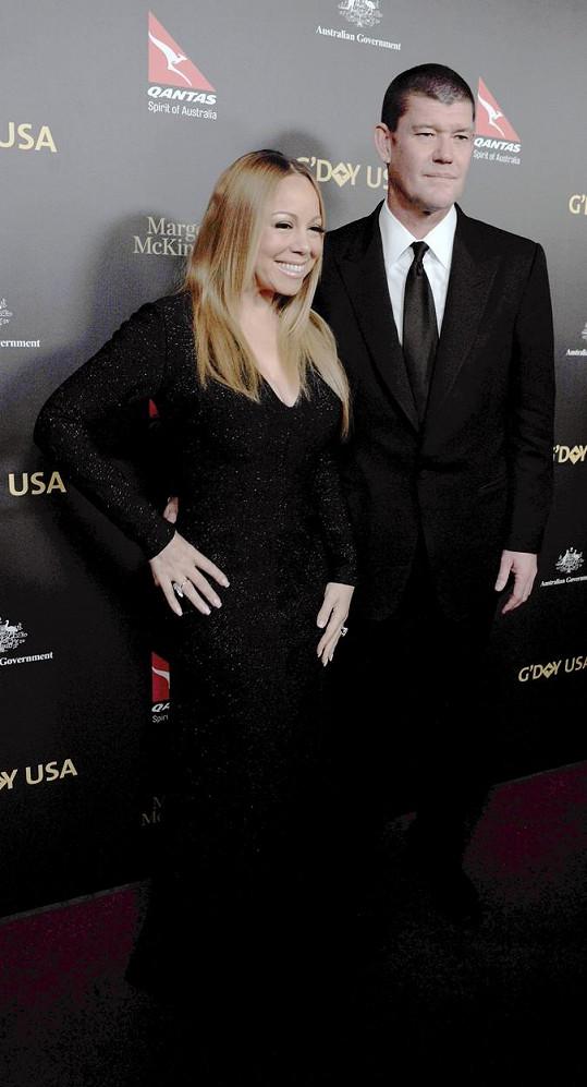 Mariah se snoubencem Jamesem Packerem
