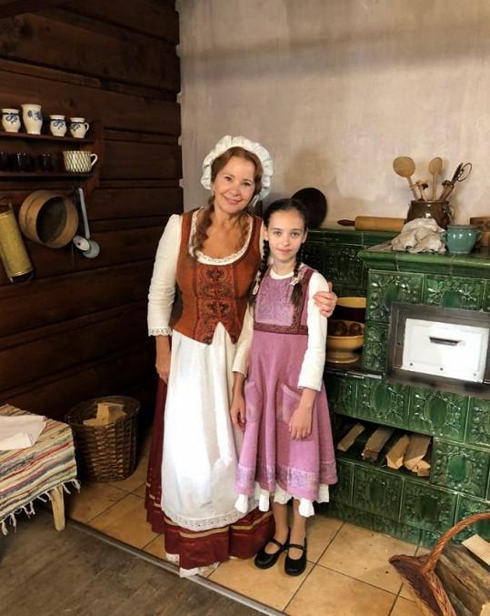 Charlotte Gottová jí v pohádce hrála vnučku.