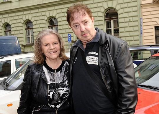 Eva Pilarová s manželem.