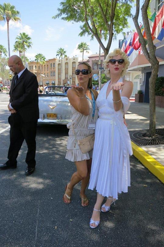 Monika Marešová a slavná Marilyn.