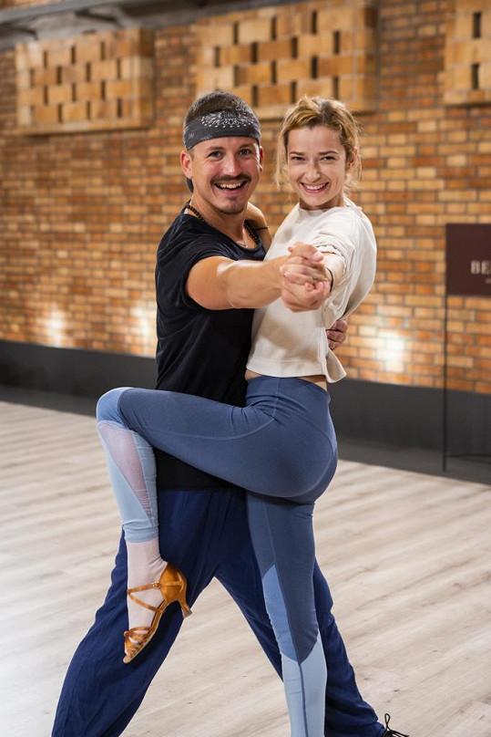 Se svým tanečním partnerem Robinem Ondráčkem