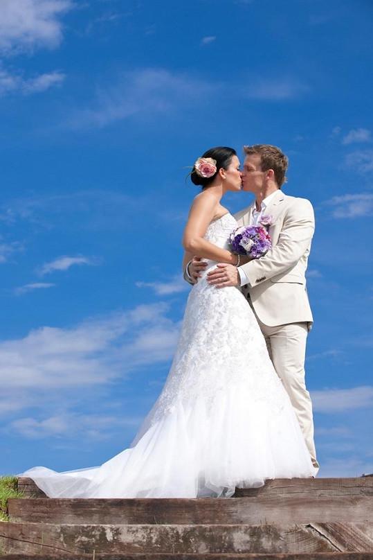David Huf a jeho Daniela. Svatbu měli 6. 8. 2011.