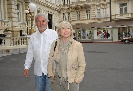 Jana Švandová s manželem.