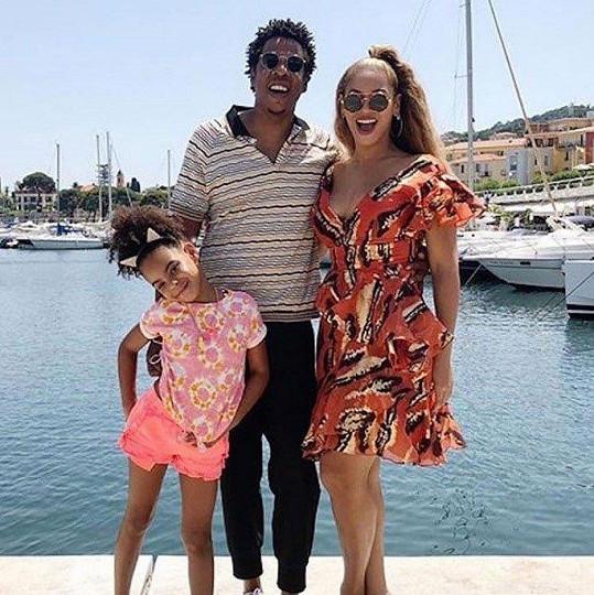 Blue Ivy s rodiči Beyoncé a Jayem-Z