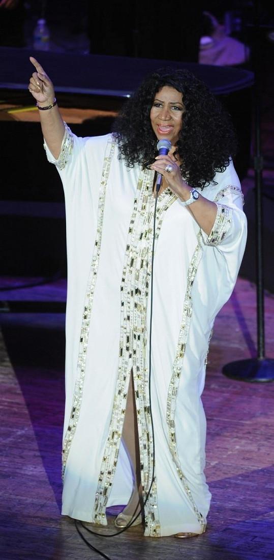 Královna soulu Aretha Franklin.