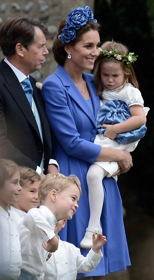 Vévodkyně Kate s dcerkou Charlotte.