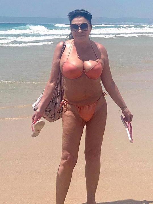 Dáda Patrasová na dovolené.