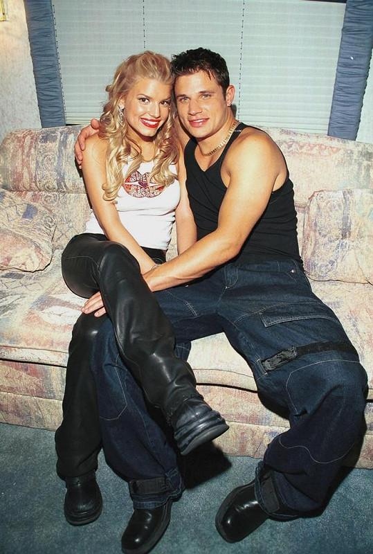 Jessica se svým prvním manželem Nickem Lacheym.