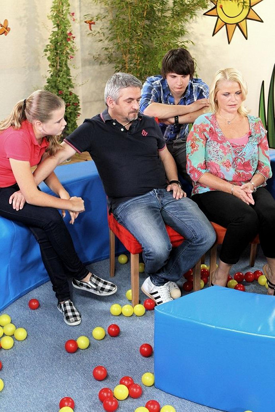 Michal Suchánek s manželkou Renatou, synem Jáchymem a dcerou Berenikou.