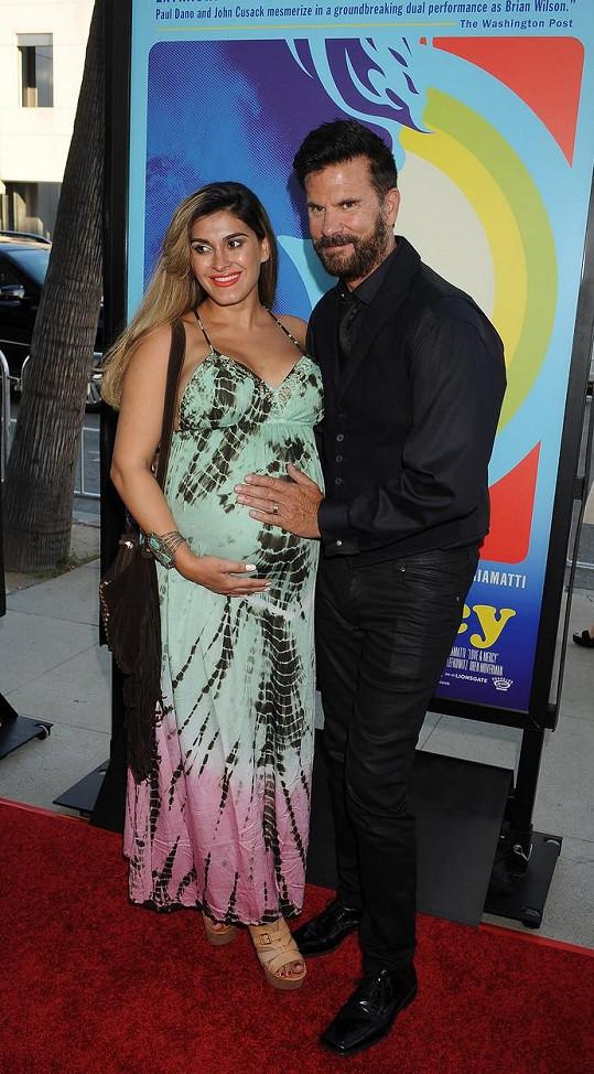 Lorenzo s těhotnou Shawnou v době, kdy očekávala jeho vnuka.