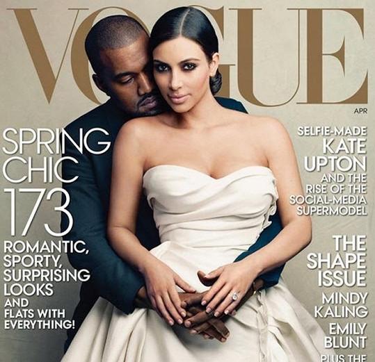 Kim Kardashin a Kanye West na titulce Vogue překvapili celý svět.