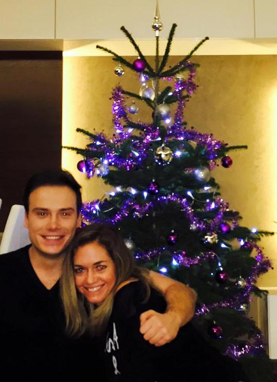 Klára Koukalová s Petrem Suchoněm společně oslavili první Vánoce.