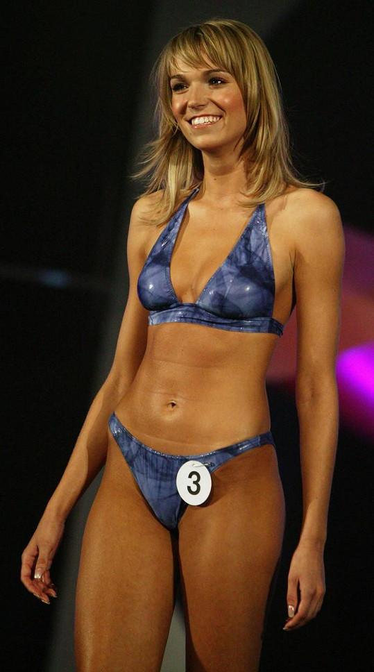 Takhle vypadala Hana Reinders v roce 2006, když soutěžila v Miss.