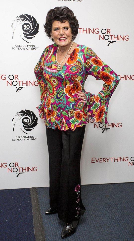 Eunice Gayson v roce 2012