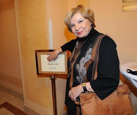 Paní Švormová na tiskové konferenci k filmu.