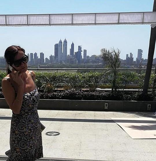 Beata Rajská odletěla na týden módy do Indie.