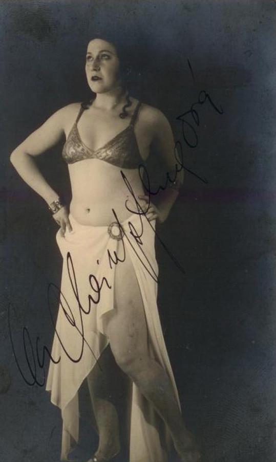 Olga Scheinpflugová ve dvacátých letech, kdy se do ní zakoukal Čapek.
