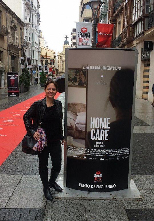 Alena Mihulová reprezentovala film domácí péče ve španělském Valladolidu...