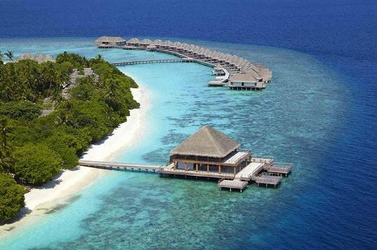 Část ostrova, na kterém Sisa trávila dovolenou.