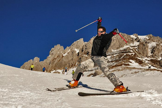 Martin má raději lyže.