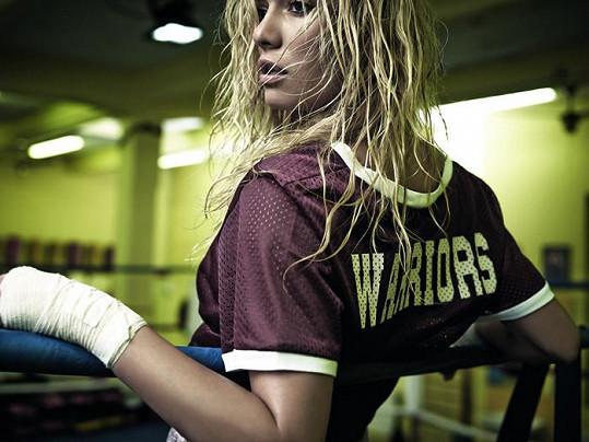 Kuchařová jako bojovnice v ringu