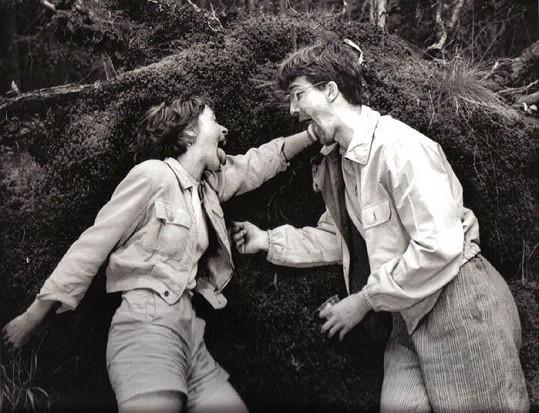 Takhle blbnul Petr Kroutil při natáčení s Táňou Vilhelmovou, do které byl prý platonicky zamilovaný.