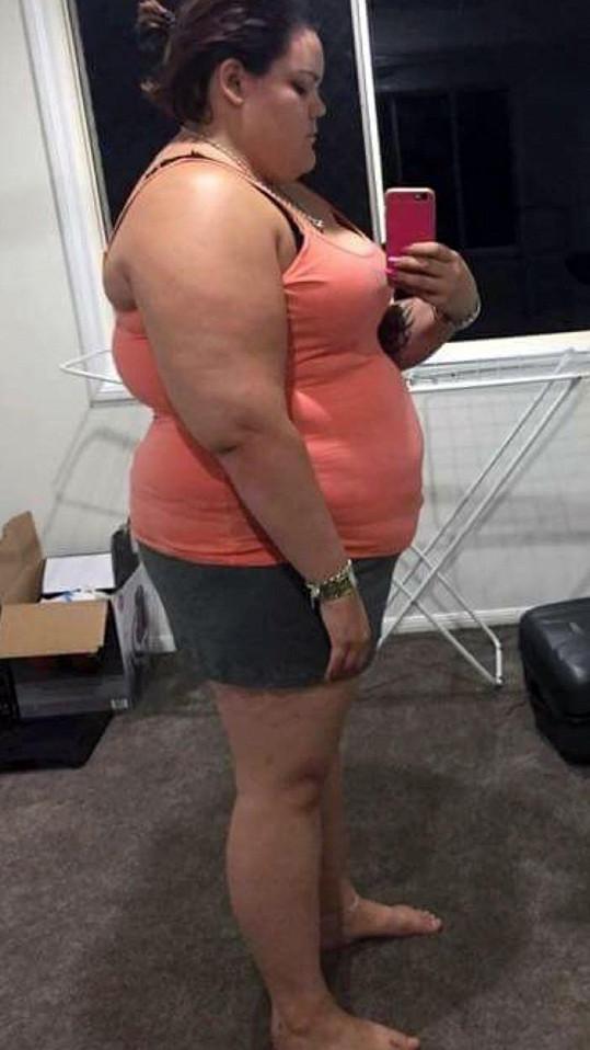 Takhle vypadala ve svém tučném období.