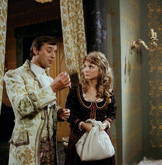 Martina Hudečková v pohádce O líné Nitce a prstýnku s rubínem (1984) s Viktorem Preissem