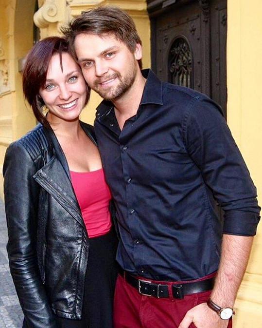 Josef Vágner se snoubenkou Marlene