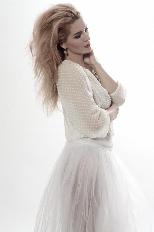 Olga Menzelová jako modelka obstála na jedničku.