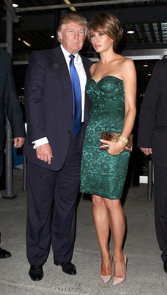 Trump a jeho současná žena Melania, první dáma USA