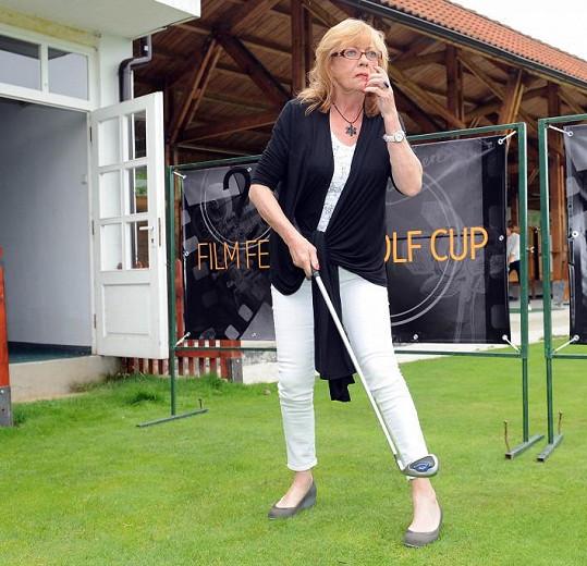 Jana Šulcová na golfu