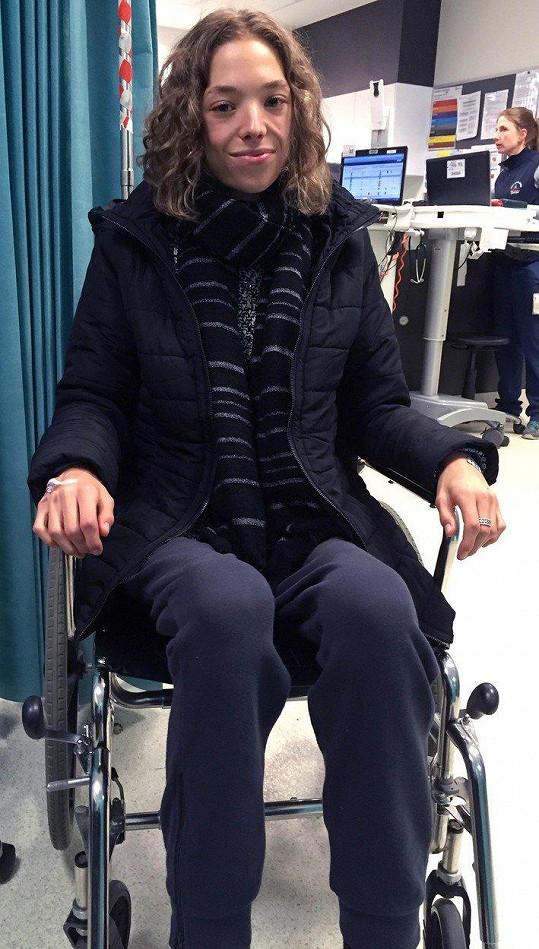 Když skončila v nemocnici, nemohla už téměř chodit.