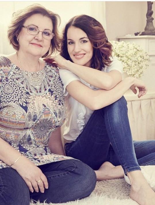 Lucie Křížková s maminkou