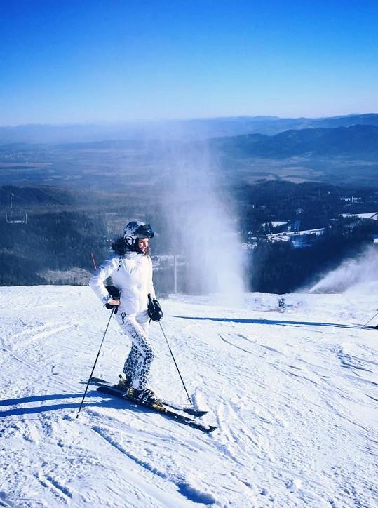 Andrea v Tatrách na lyžích