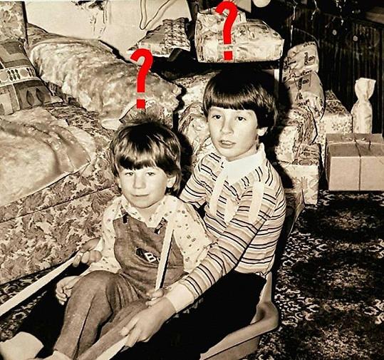 Petr Vágner (vpravo) na snímku, kdy mu bylo sedm let.