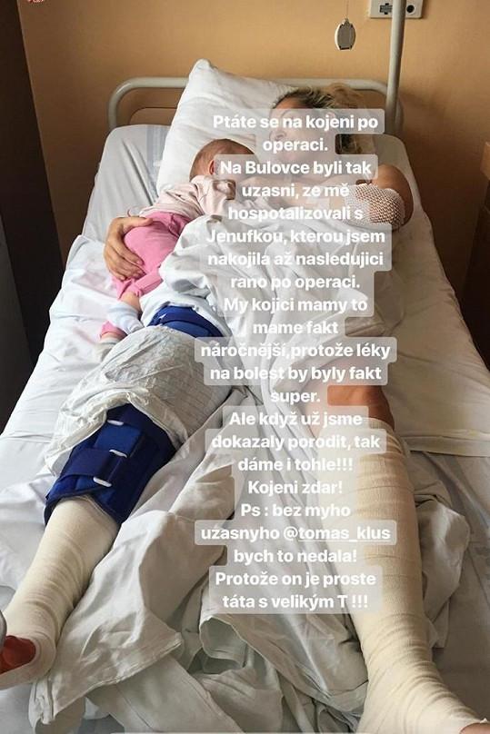 V nemocnici je Tamara i s jejich nejmladší dcerkou, kterou stále kojí.