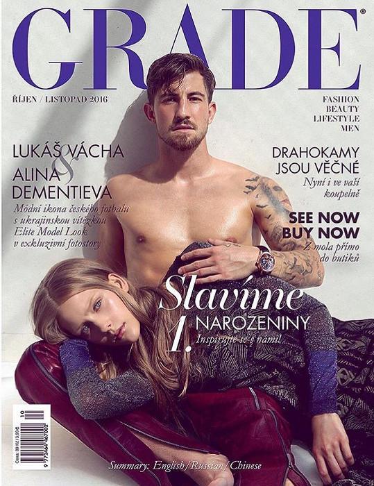 Na obálce aktuálního čísla módního magazínu Grade