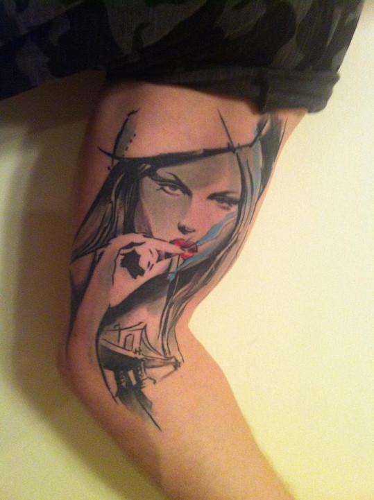Karel Vágner se pochlubil tetováním s portrétem Simony Krainové.